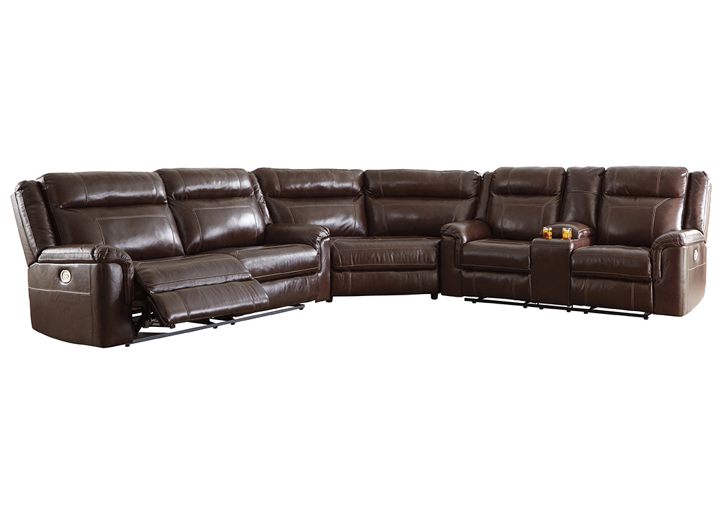Surprising Wyline Coffee Power Reclining Sofa Sectional With Adjustable Gmtry Best Dining Table And Chair Ideas Images Gmtryco